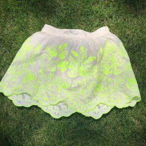 Anthropologie Skirts - Anthro mesh embroidered skirt